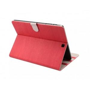Чехол книжка подставка текстура Дерево на поликарбонатной основе с магнитной защелкой для Samsung Galaxy Tab S2 9.7 Красный