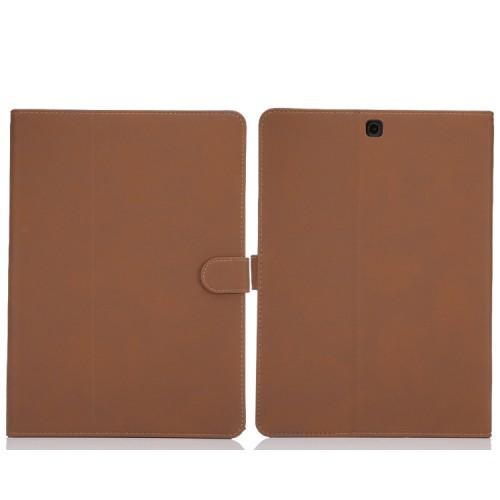 Винтажный чехол книжка подставка на поликарбонатной основе с магнитной защелкой для Samsung Galaxy Tab S2 9.7