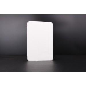 Сегментарный чехол книжка подставка на поликарбонатной непрозрачной основе для Samsung Galaxy Tab S2 9.7 Белый