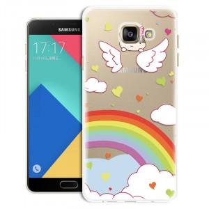 Силиконовый матовый дизайнерский чехол с эксклюзивной серией принтов для Samsung Galaxy A7 (2016)