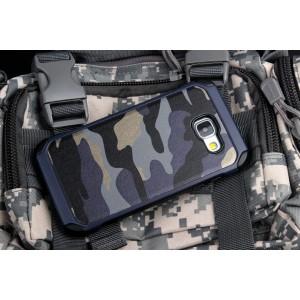 Двухкомпонентный чехол с силиконовой подложкой и поликарбонатной накладкой Камуфляж для Samsung Galaxy A7 (2016)