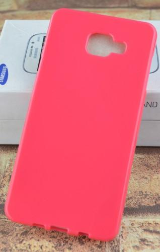 Силиконовый матовый непрозрачный чехол для Samsung Galaxy A7 (2016)