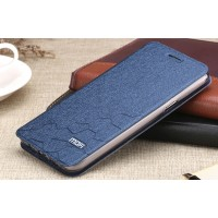 Текстурный чехол флип подставка на силиконовой основе для Samsung Galaxy A7 (2016) Синий