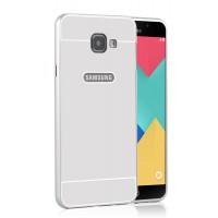 Двухкомпонентный чехол с металлическим бампером и поликарбонатной накладкой для Samsung Galaxy A7 (2016) Белый