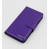 Клеевой чехол портмоне подставка с магнитной защелкой для Acer Liquid E700 Фиолетовый