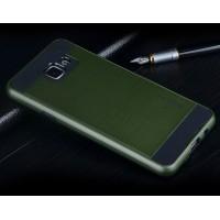 Гибридный чехол накладка силикон/поликарбонат для Samsung Galaxy A7 (2016) Зеленый
