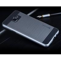 Гибридный чехол накладка силикон/поликарбонат для Samsung Galaxy A7 (2016) Серый