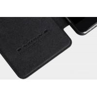 Чехол флип на пластиковой основе с окном вызова и текстурным покрытием Кожа для Samsung Galaxy A7 (2016) Черный