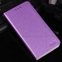 Текстурный чехол флип подставка на пластиковой основе с отделением для карт для Samsung Galaxy A7 (2016) Фиолетовый
