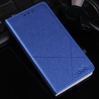 Текстурный чехол флип подставка на пластиковой основе с отделением для карт для Samsung Galaxy A7 (2016) Синий