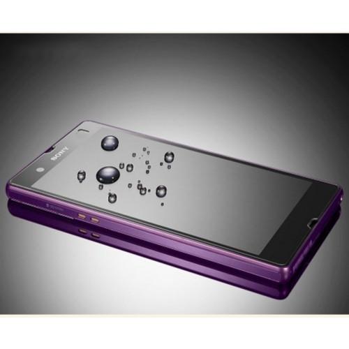 Ультратонкое износоустойчивое сколостойкое олеофобное защитное стекло-пленка для Sony Xperia Z
