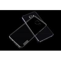Силиконовый матовый полупрозрачный чехол повышенной защиты для Samsung Galaxy A7 (2016) Серый