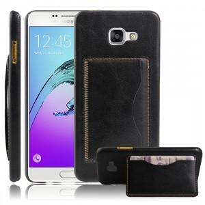Дизайнерский чехол накладка с отделениями для карт и подставкой для Samsung Galaxy A5 (2016)