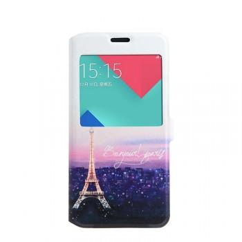 Дизайнерский принтованный чехол флип подставка с магнитной застежкой для Samsung Galaxy A5 (2016)