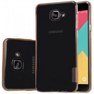 Силиконовый матовый полупрозрачный чехол повышенной защиты для Samsung Galaxy A5 (2016)
