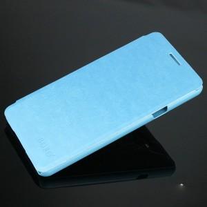 Чехол флип подставка на пластиковой основе для Samsung Galaxy A5 (2016) Голубой