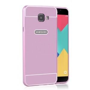 Двухкомпонентный чехол с металлическим бампером и поликарбонатной накладкой для Samsung Galaxy A5 (2016)