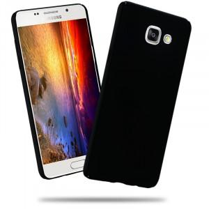 Пластиковый матовый непрозрачный чехол с улучшенной защитой элементов корпуса для Samsung Galaxy A5 (2016) Черный