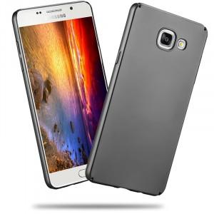 Пластиковый матовый непрозрачный чехол с улучшенной защитой элементов корпуса для Samsung Galaxy A5 (2016) Серый