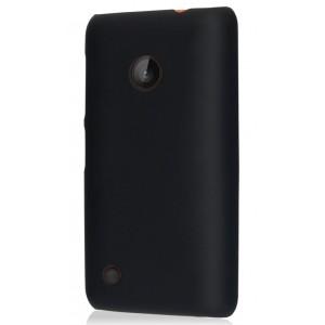 Пластиковый чехол для Nokia Lumia 530 Черный