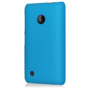 Пластиковый чехол для Nokia Lumia 530 Голубой