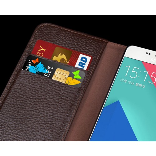 Кожаный чехол портмоне (нат. кожа) для Samsung Galaxy A5 (2016)