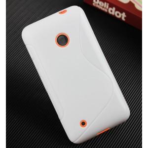 Силиконовый чехол S для Nokia Lumia 530 Белый