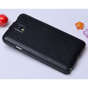 Кожаный чехол вертикальная книжка для Samsung Galaxy Note 3 Черный