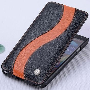 Кожаный чехол вертикальная книжка с дизайнерской полосой для Samsung Galaxy Note 3