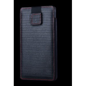 Кожаный мешок (нат. кожа) на липучке для Samsung Galaxy Note 5