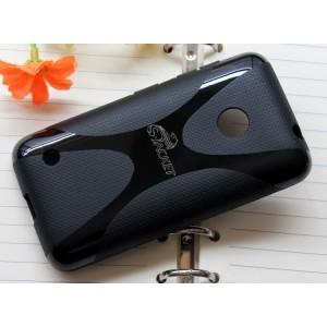 Силиконовый чехол X для Nokia Lumia 530 Черный
