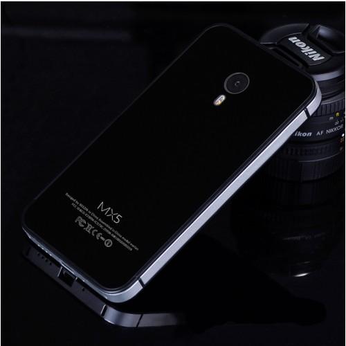 Двухкомпонентный чехол с металлическим бампером и поликарбонатной накладкой для Meizu MX5