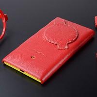 Кожаный чехол накладка для Nokia Lumia 1020 Красный