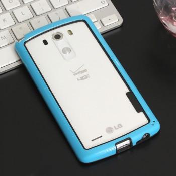 Бампер силиконовый двухцветный для LG G3 (Dual-LTE)