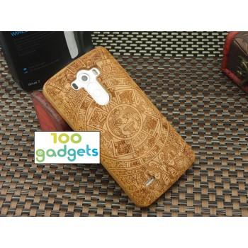 Деревянный разборный чехол с лазерным принтом для LG G3 (Dual-LTE)