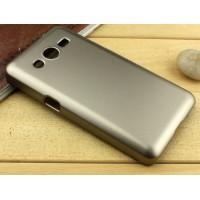 Пластиковый чехол серия Metallic для Samsung Galaxy Core 2 Бежевый