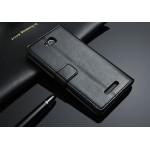 Чехол портмоне подставка из глянцевой кожи с магнитной застежкой назад для Sony Xperia C