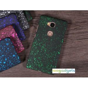 Пластиковый матовый дизайнерский чехол с голографическим принтом Звезды для Huawei Honor 5X Зеленый
