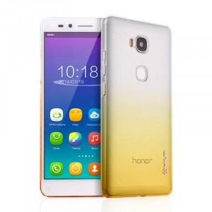 Пластиковый градиентный полупрозрачный чехол для Huawei Honor 5X Желтый