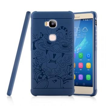 Силиконовый дизайнерский фигурный чехол с принтом для Huawei Honor 5X