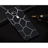Двухкомпонентный чехол с металлическим бампером и поликарбонатной накладкой с принтом для Huawei Honor 5X Черный