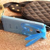 Силиконовый дизайнерский фигурный чехол Заяц со складными ушами для Huawei Honor 5X Синий