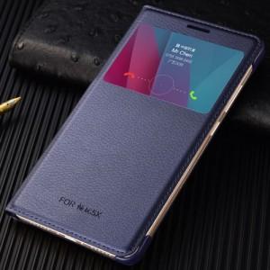 Чехол флип на пластиковой основе с окном вызова для Huawei Honor 5X