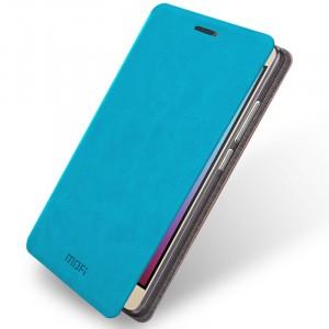 Чехол флип подставка водоотталкивающий для Huawei Honor 5X Голубой
