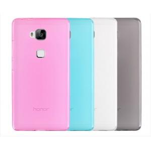 Силиконовый матовый полупрозрачный чехол для Huawei Honor 5X