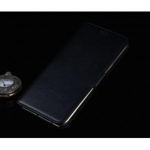 Кожаный чехол горизонтальная книжка (нат. кожа) с магнитной застежкой для Huawei Honor 5X
