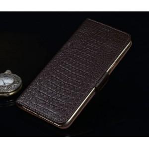 Кожаный чехол портмоне (нат. кожа крокодила) для Huawei Honor 5X