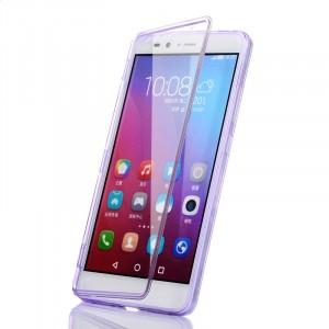 Двухмодульный силиконовый чехол горизонтальная книжка с транспарентной акриловой смарт крышкой для Huawei Honor 5X