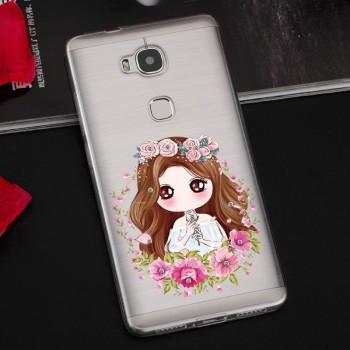 Силиконовый матовый дизайнерский чехол с принтом для Huawei Honor 5X