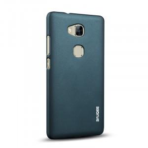 Пластиковый матовый непрозрачный Металлик чехол для Huawei Honor 5X Зеленый